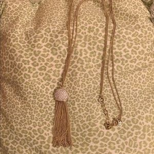 Lilly Pulitzer gold necklace